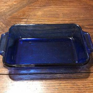 Vintage cobalt anchor hocking 6 x 9 dish